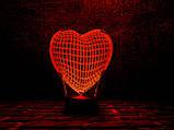 """Детский ночник - светильник """"Сердце"""" 3DTOYSLAMP, фото 2"""