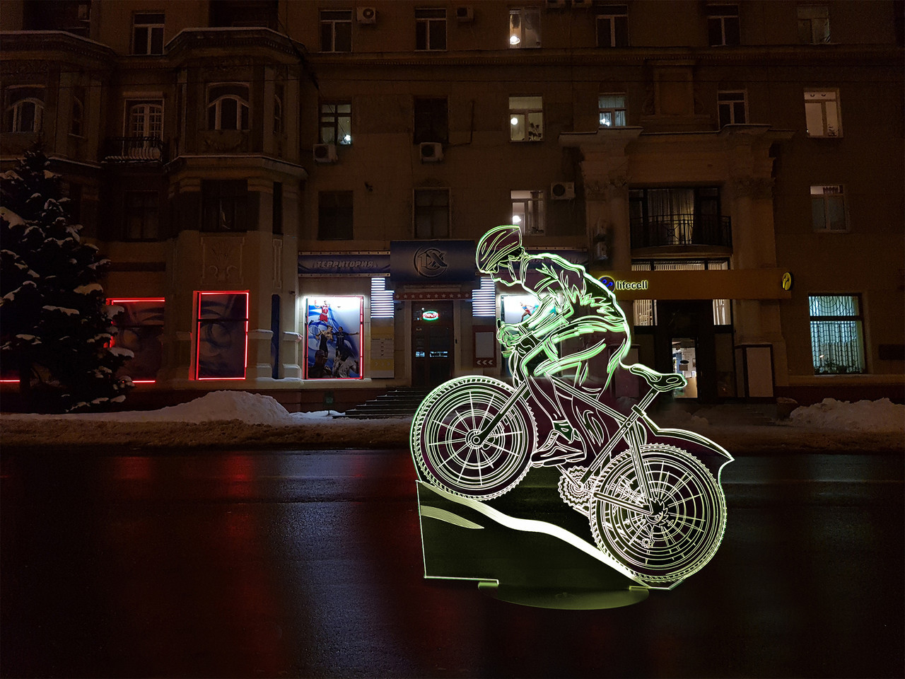 """Детский ночник - светильник """"Велосипед 3"""" 3TOYSLAMP"""