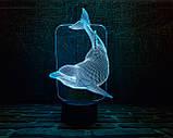 """Детский ночник - светильник """"Дельфин"""" 3DTOYSLAMP, фото 2"""