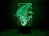 """Детский ночник - светильник """"Морской конек"""" 3DTOYSLAMP, фото 2"""