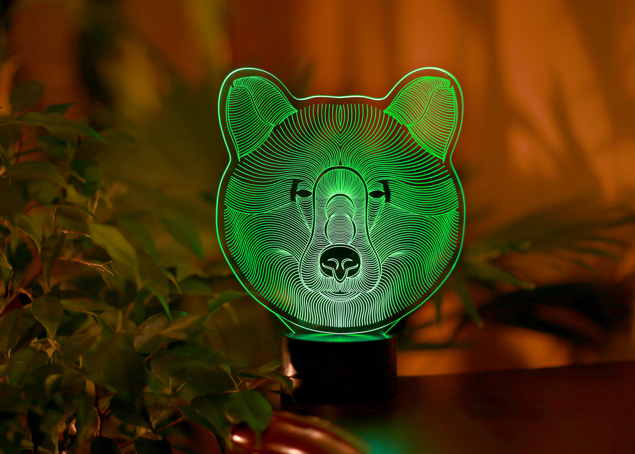 """Детский ночник - светильник """"Медведь"""" 3DTOYSLAMP"""