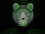 """Детский ночник - светильник """"Медведь"""" 3DTOYSLAMP, фото 2"""