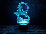 """Детский ночник - светильник """"Золотая антилопа"""" 3DTOYSLAMP, фото 2"""