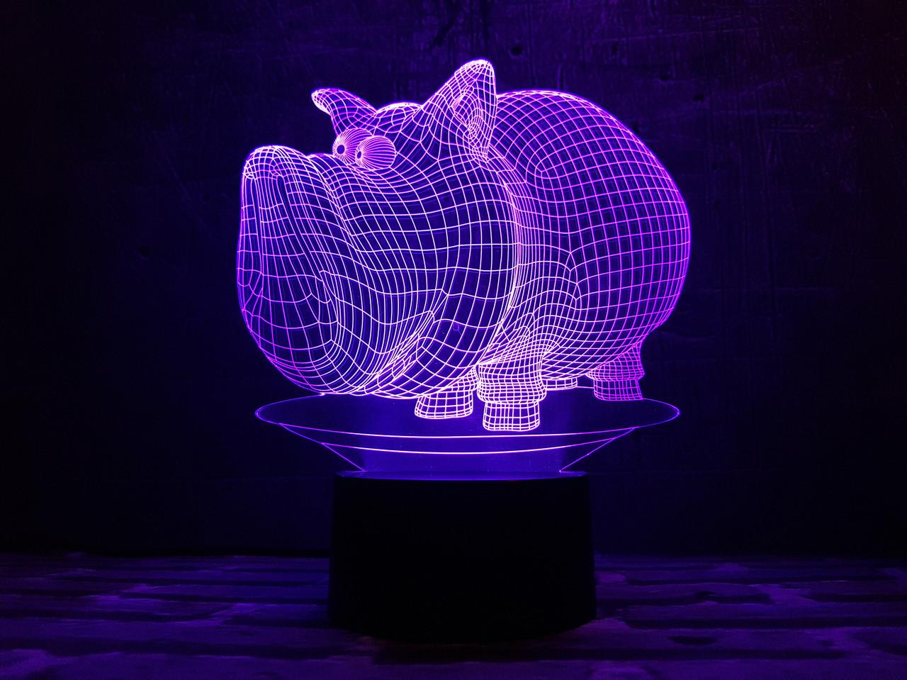 """Детский ночник - светильник """"Дог Мог"""" 3DTOYSLAMP"""