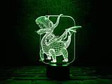 """Детский ночник - светильник """"Дракоша"""" 3DTOYSLAMP, фото 2"""