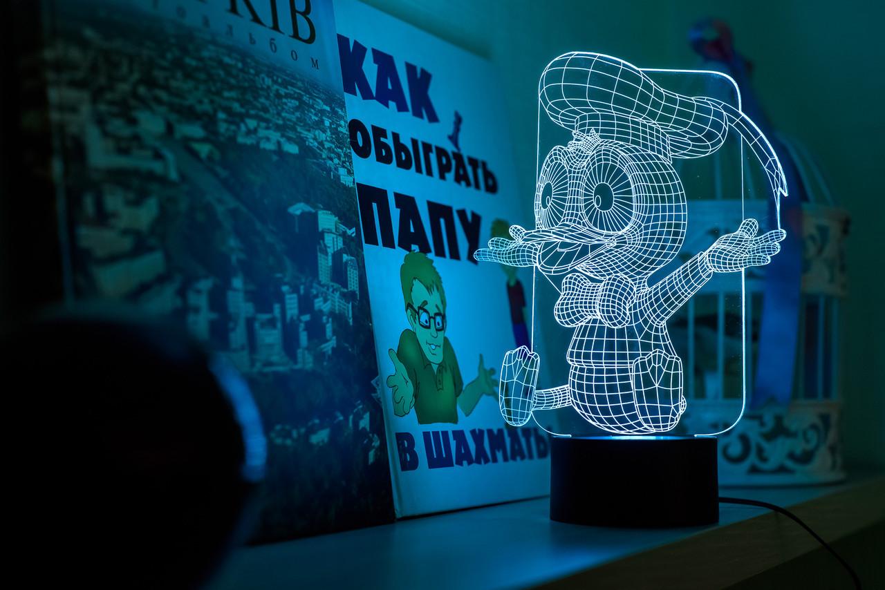 """Детский ночник - светильник """"Утенок"""" 3DTOYSLAMP"""