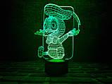 """Детский ночник - светильник """"Утенок"""" 3DTOYSLAMP, фото 2"""