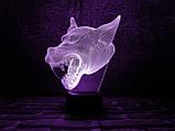 """Детский ночник - светильник """"Волк 3"""" 3DTOYSLAMP, фото 2"""