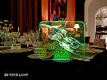 """Детский ночник - светильник """"Космический корабль 4"""" 3DTOYSLAMP"""