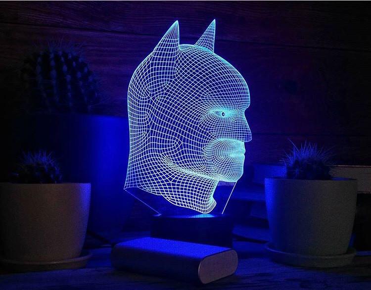 """Детский ночник - светильник """"Бэтмен 2"""" 3DTOYSLAMP"""