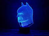 """Детский ночник - светильник """"Бэтмен 2"""" 3DTOYSLAMP, фото 2"""