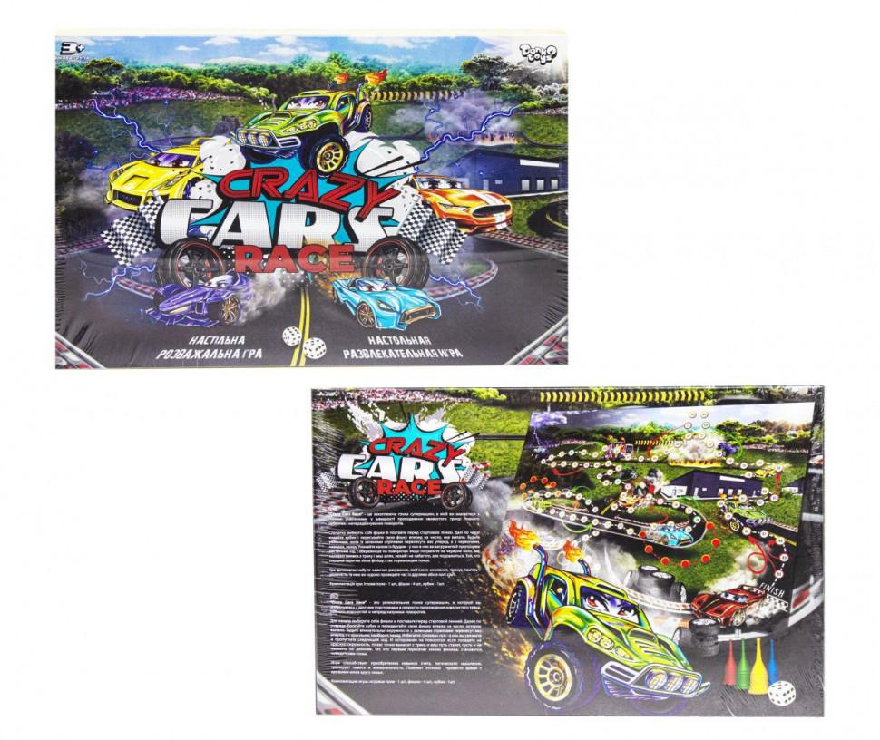 """Настольная развлекательная игра """"Crazy Cars Race"""" DTG94R"""