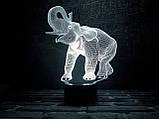 """Детский ночник - светильник """"Слон"""" 3DTOYSLAMP, фото 2"""