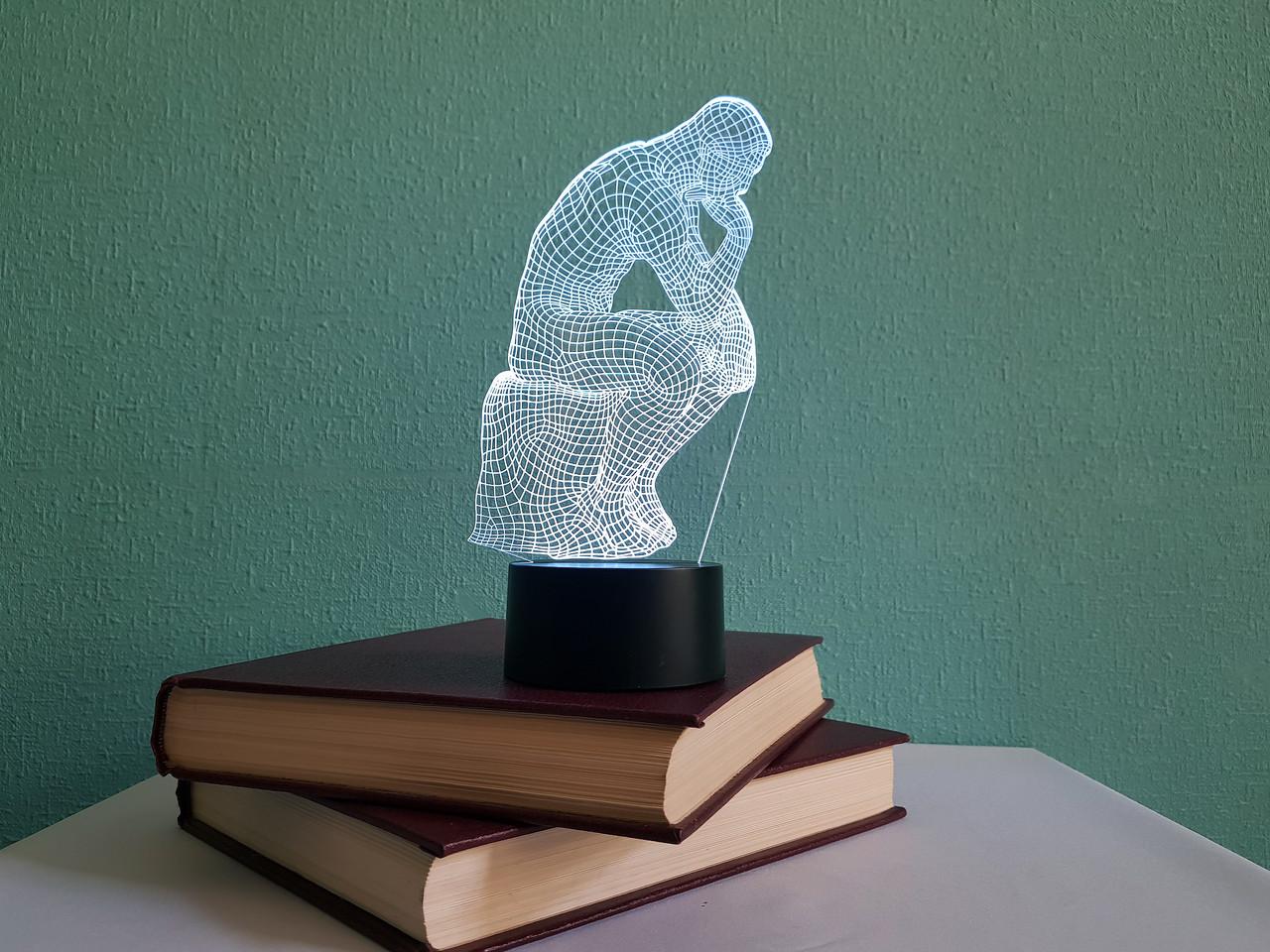 """3d светильник """"Мыслитель"""" 3DTOYSLAMP"""