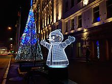 "3d светильник ""Снеговик"" 3DTOYSLAMP"