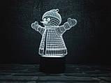 "3d светильник ""Снеговик"" 3DTOYSLAMP, фото 2"