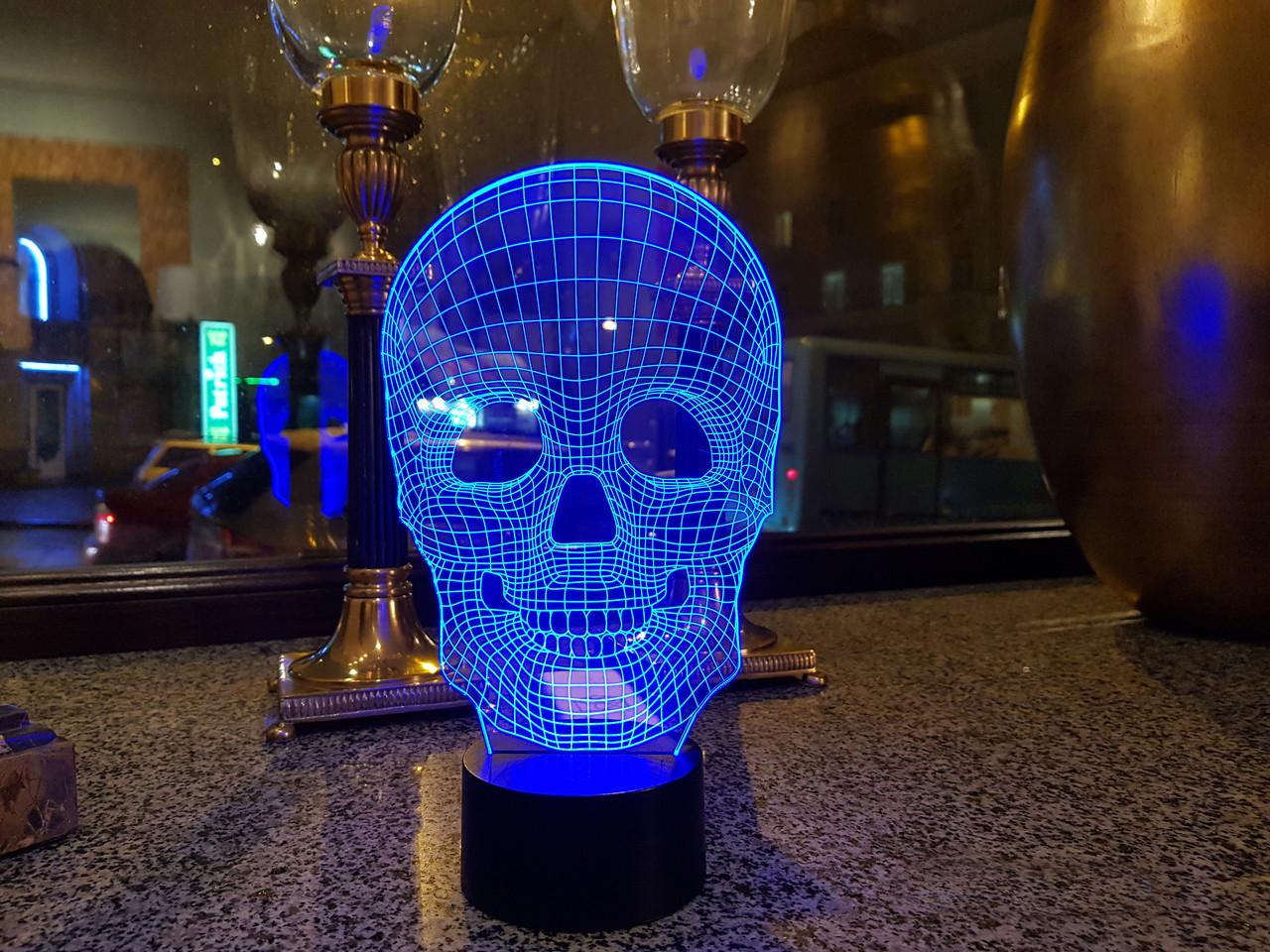"3D ночник ""Череп 4"" 3DTOYSLAMP"