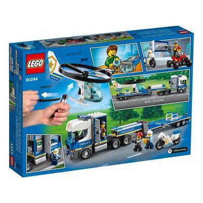 Конструктор LEGO City Police Полицейский вертолётный транспорт 317 деталей (60244)
