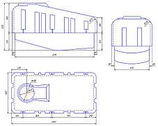 Емкость, бак 2000 литров для опрыскивателя на прицепной опрыскиватель AGRO E, фото 3