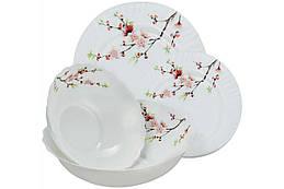 "Набор посуды жар-стекло Maestro - 19 ед. ""сакура"" MR-30067-19S"