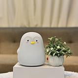 Силиконовый ночник Пингвин Серый, фото 2
