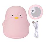 Силиконовый ночник Пингвин Розовый, фото 2