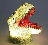 Силиконовый ночник T-Rex 7 цветов, фото 2