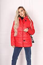 """Стеганая зимняя женская куртка """"Ontario"""" с капюшоном и поясом, фото 3"""