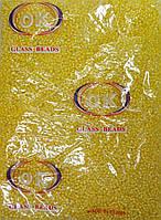 Бисер мелкий хрусталь с желтой серединкой (450г/уп)