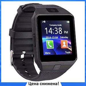 Умные часы Smart Watch DZ-09 Black - смарт часы под SIM-карту и SD карту (Черные)