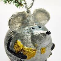 3Д пазл из картона Мышка елочная игрушка Новогодний Рождественский подарок PZ 104