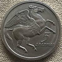 Монета Греции 5 драхм 1973 г., фото 1