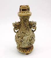 Ваза, резьба китайских мастеров, фото 1