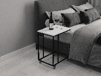 Журнальный столик на колесиках, прикроватный столик лофт, фото 1