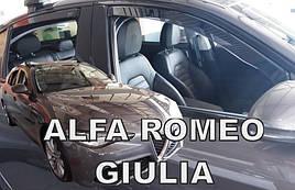 Дефлекторы окон (ветровики) Alfa Romeo Giulia 2016-> 5D (вставные, кт - 4шт) (Heko)