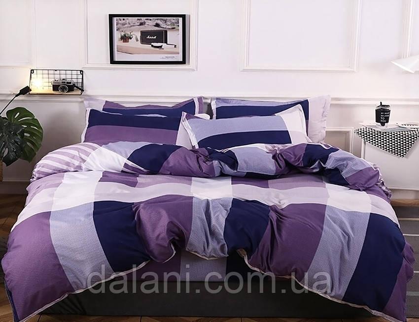 Двуспальный фиолетовый комплект постельного белья из сатина