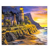 "Картина раскраска по номерам ""Маяк на берегу"", 40х50см. №30336"