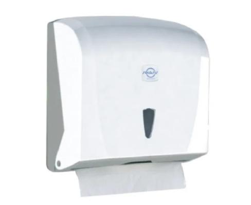 Диспенсер держатель для листовых бумажных полотенец К.40 (25,5*12,5*24СМ)  Z, V-сложенных БЕЛЫЙ