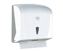 Диспенсер держатель для листовых бумажных полотенец К.40 (27*13*27СМ)  Z, V-сложенных БЕЛЫЙ