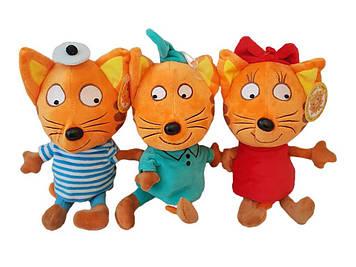 Набір м'яка музична іграшка, три коти, співає пісню з мультфільму 31 см