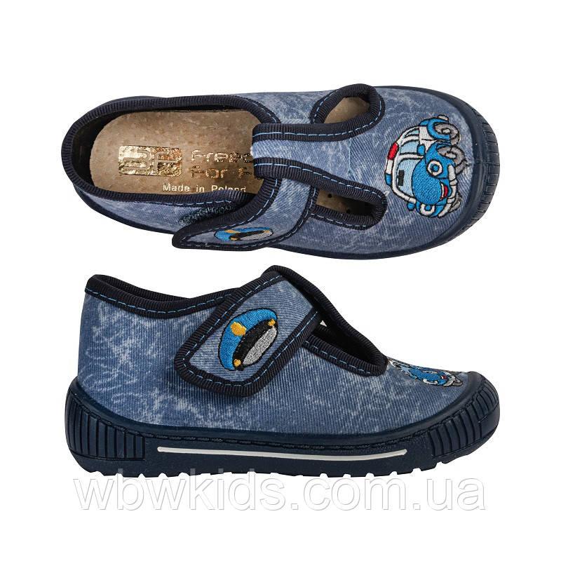 Тапочки 3F 2SK8/10 Tygrysek сині для хлопчика