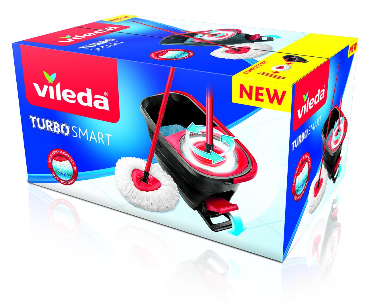 Набір для прибирання Vileda Turbo Smart (швабра і відро з віджимом)