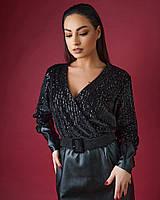 Женское стильное комбинированное платье большого размера с поясом. Размеры:50,52,54,56, фото 1