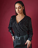 Женское стильное комбинированное платье большого размера с поясом. Размеры:50,52,54,56