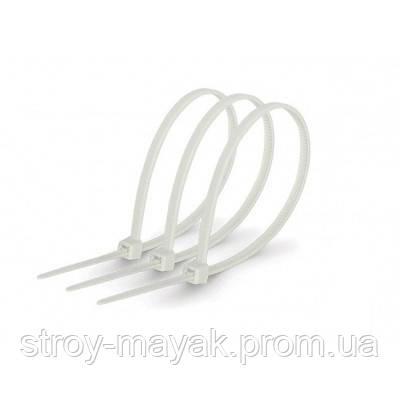 Хомуты кабельные 100х3 мм - 400х8 мм белые (100шт) нейлон
