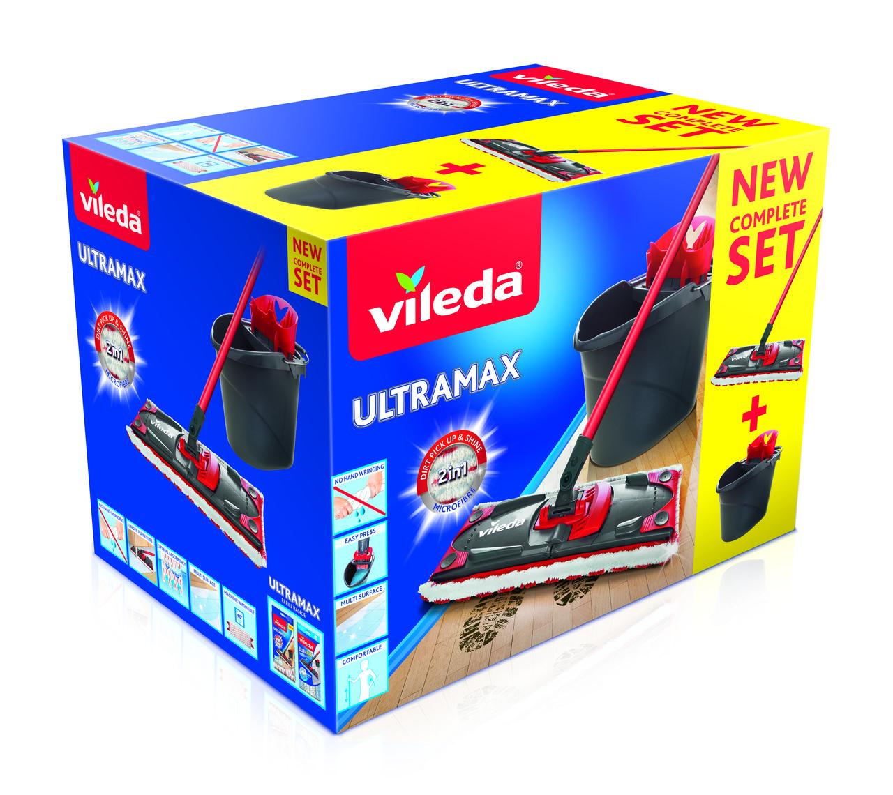 Набір для прибирання Vileda UltraMax (швабра і відро з віджимом)