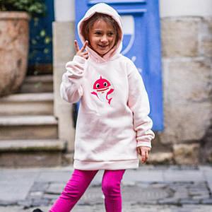 Худи Baby Shark Для девочек Розовый Размеры: 98-104; 110-116; 122-128; 134-140; 146-152
