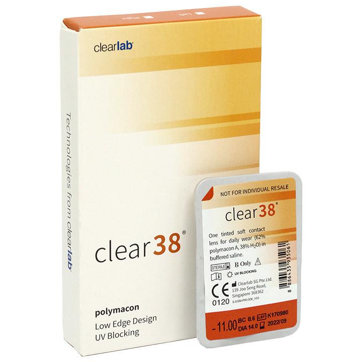 Clear 38 квартальные контактные линзы