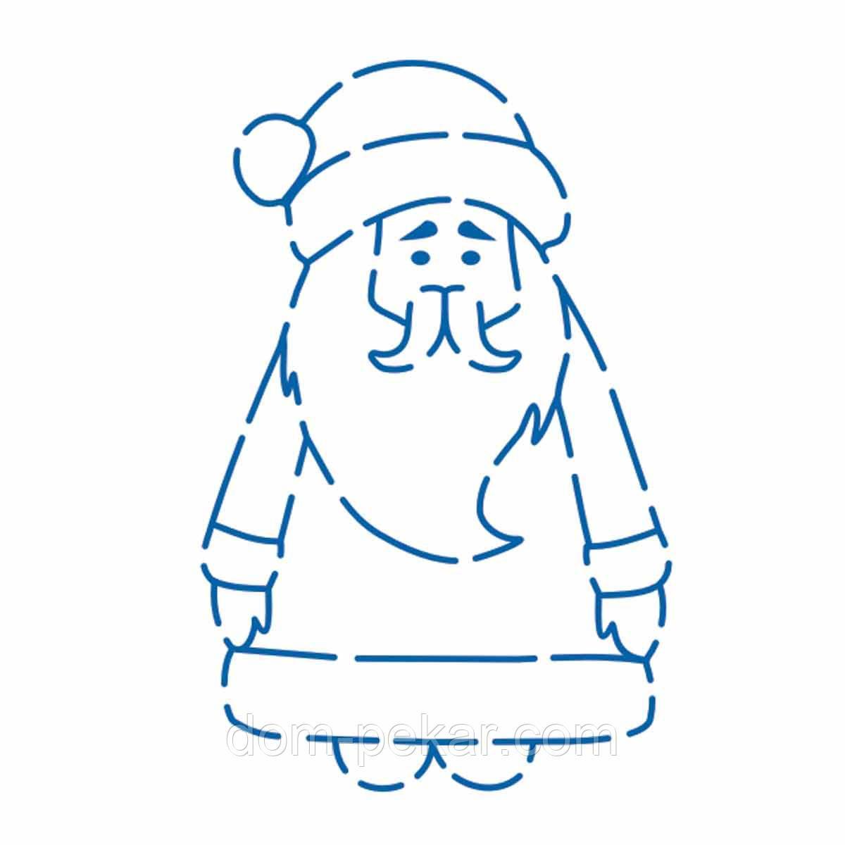 Трафарет Дед Мороз Тильда 11,5*7,5 см (TR-2)
