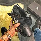 Зимние кроссовки Nike Air Force High Black Fur найк аир форс 1 хай зимові кросівки Nike Air Force 1 High '07, фото 2